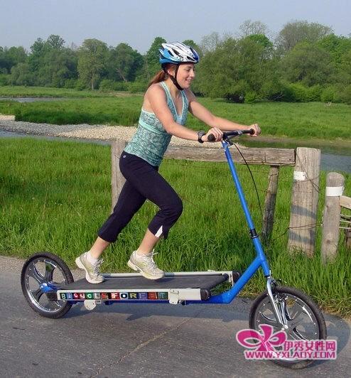 健身出行两不误 把跑步机搬上自行车-自行车