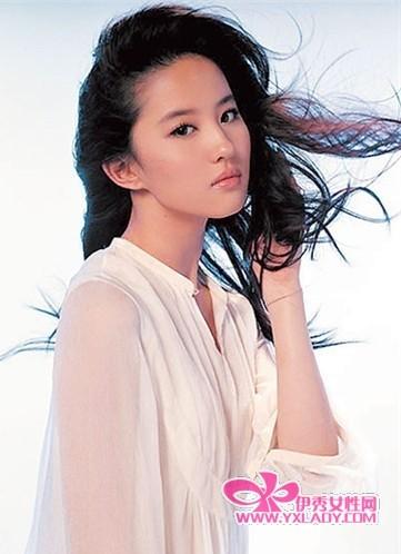 明星怎么瘦脸,刘亦菲快速瘦脸方法-刘亦菲